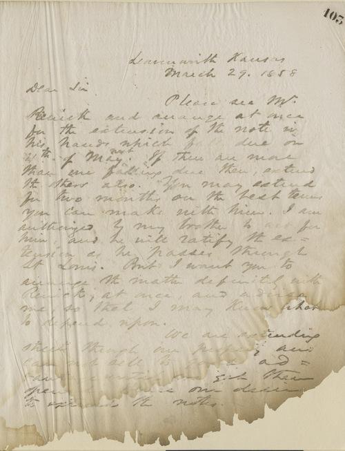Thomas Ewing, Jr., to Dear Sir - Page