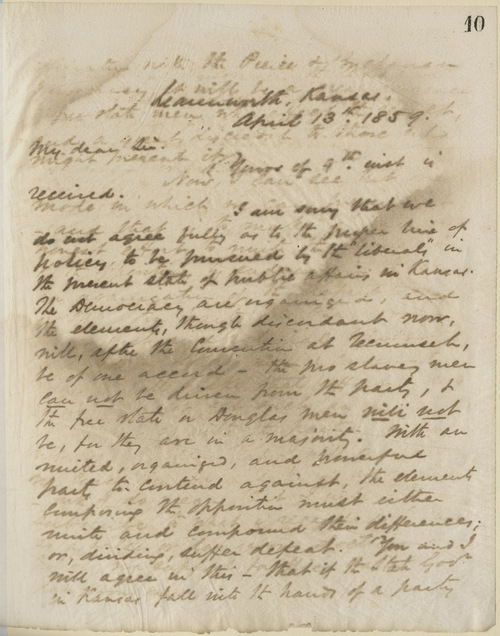 Thomas Ewing, Jr., to George W. Brown - Page