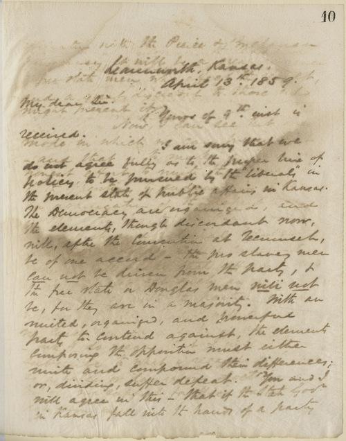 Thomas Ewing, Jr., to George W. Brown - Page