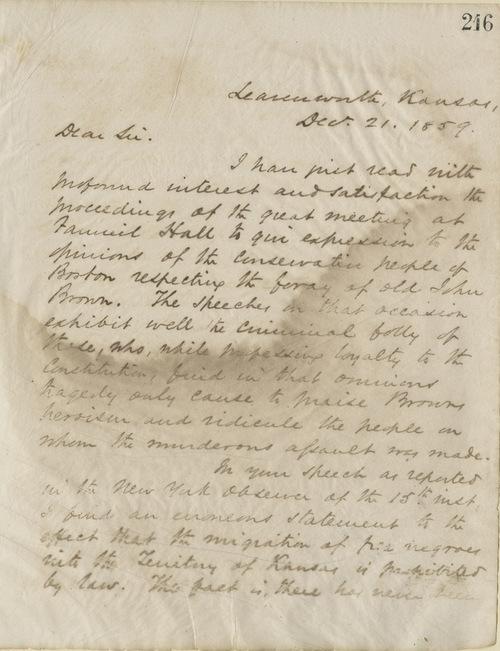 Thomas Ewing, Jr., to Edward Everett - Page
