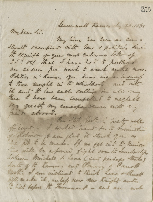Thomas Ewing, Jr., to John Hanna - Page
