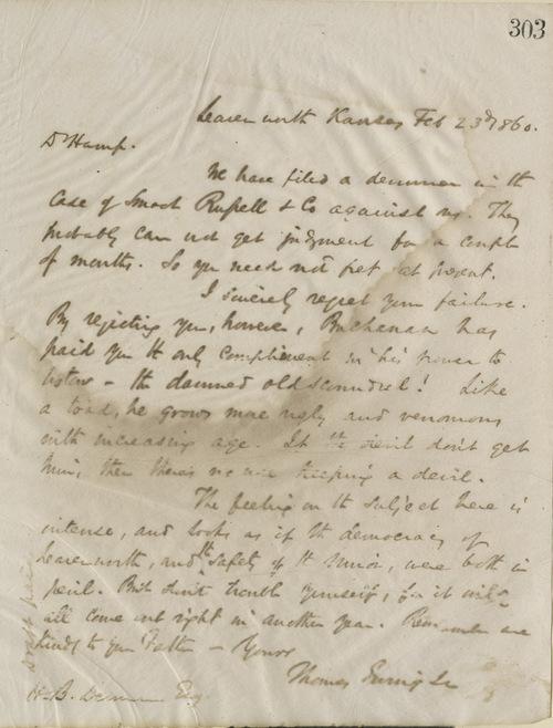 Thomas Ewing, Jr., to Hamp B. Denman - Page