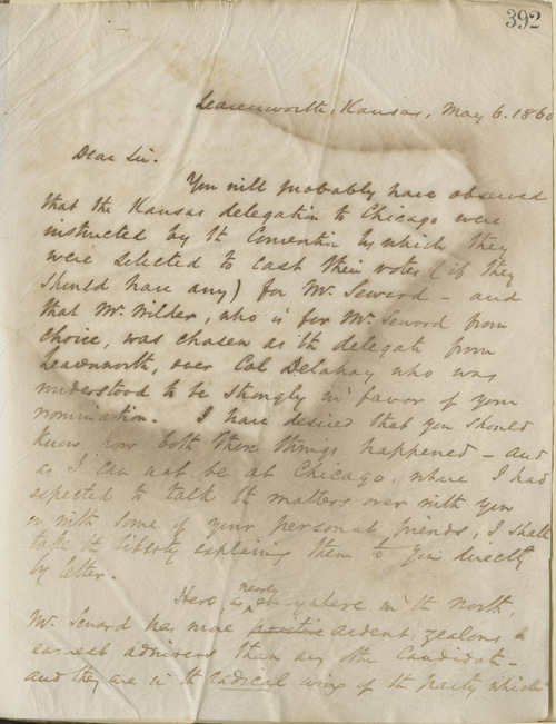 Thomas Ewing, Jr., to Abraham Lincoln - Page
