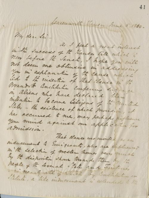 Thomas Ewing, Jr.,  to John J. Crittenden - Page