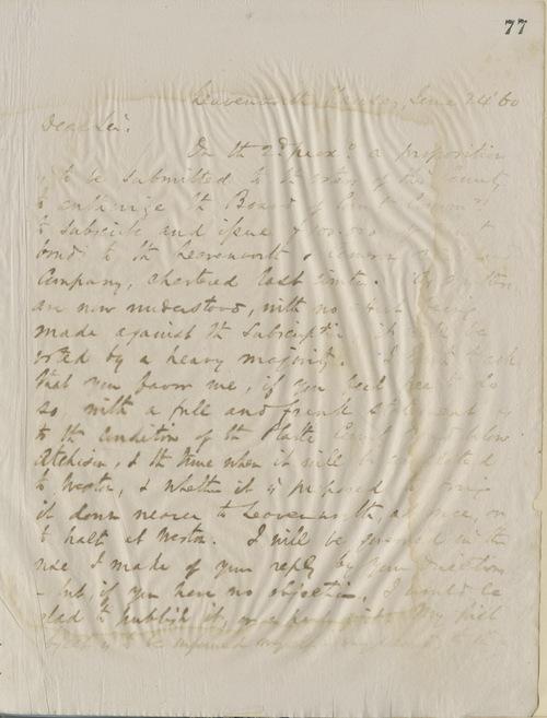 Thomas Ewing, Jr., to E. Peabody - Page