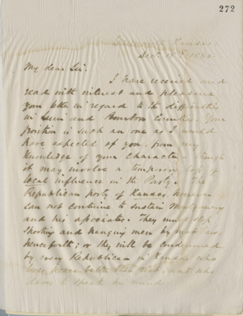 Thomas Ewing, Jr., to W. R. Griffith - Page