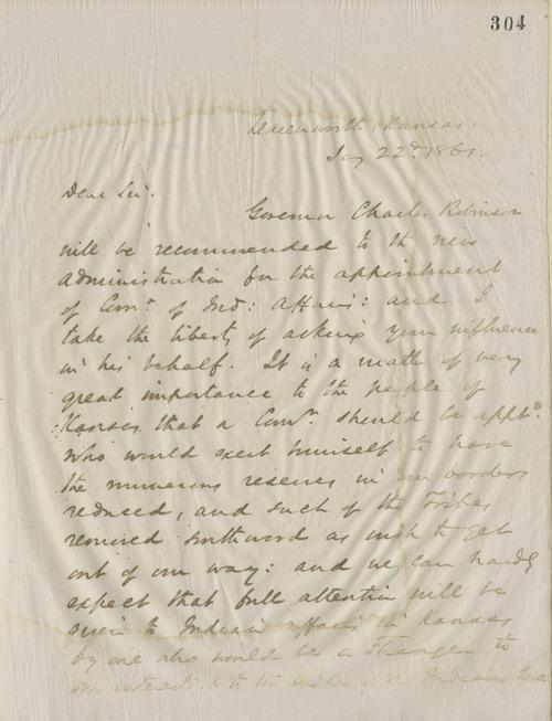 Thomas Ewing, Jr., to John Sherman - Page