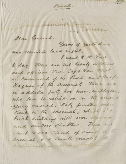 Thomas Ewing, Jr., to General James H. Lane - Page