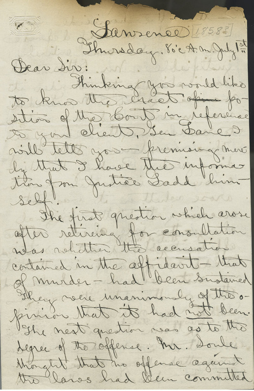 John F. King to Thomas Ewing, Jr. - Page
