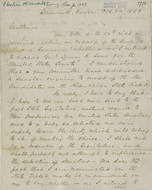 Thomas Ewing, Jr. to  J.B. Abbott and others - Page