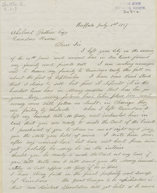 A. Tuttle to Abelard Guthrie - Page