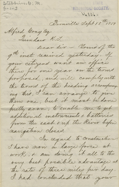 Charles M. Stebbins to Alfred Gray - Page