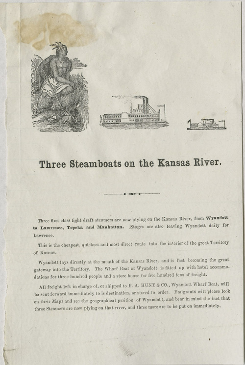 Three steamboats on the Kansas River - Page