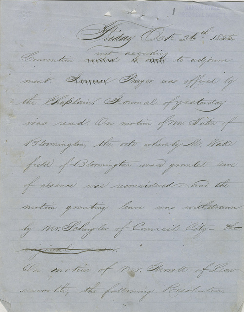 Topeka Constitutional Convention - Page