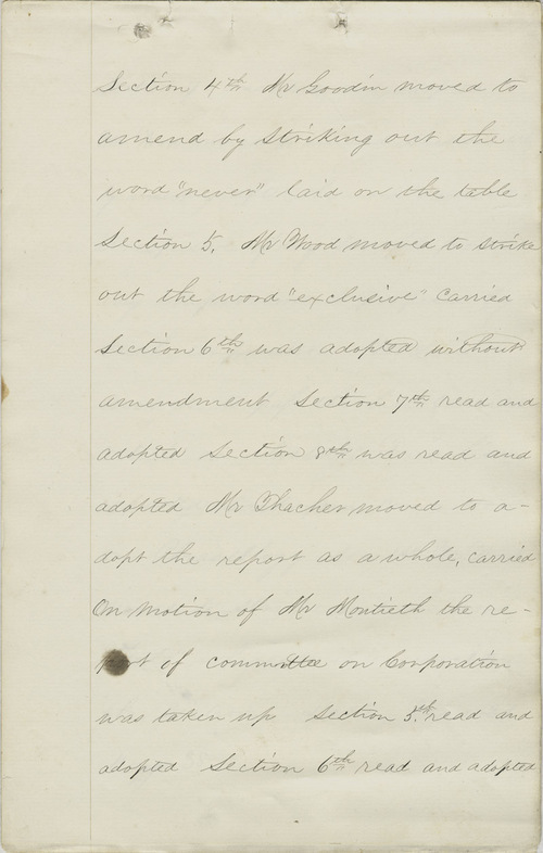 Leavenworth Constitutional Convention journal - Page