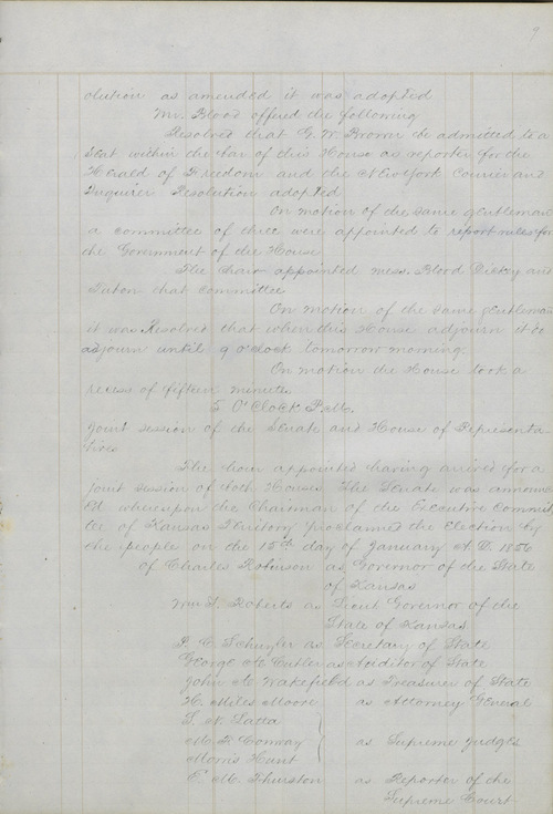 Journal, House of Representatives, Topeka (1856) - Page