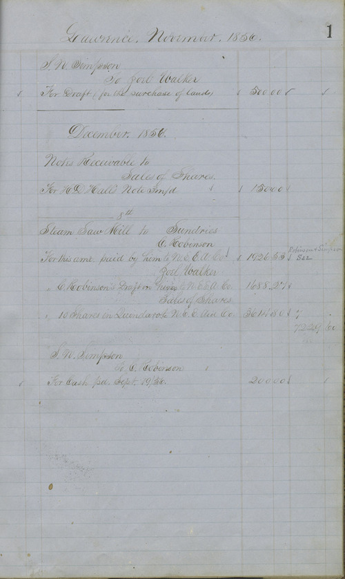 Charles Robinson account book - Page