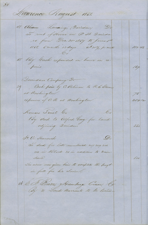 Dr. Charles Robinson account book - Page
