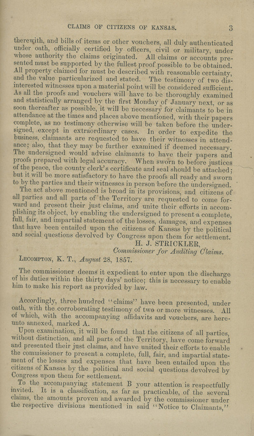 Kansas Territory citizens' claims process - Page