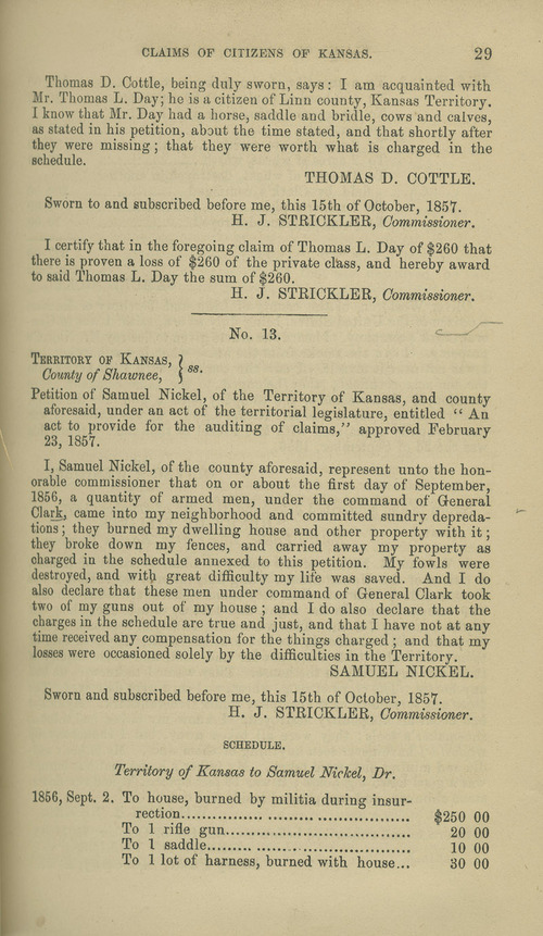 Samuel Nickel territorial loss claim - Page