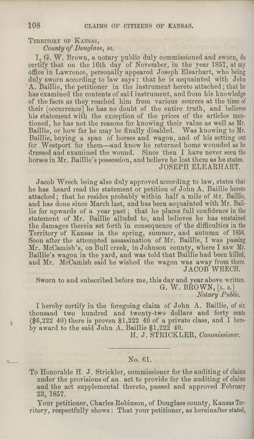 Charles Robinson territorial loss claim - Page