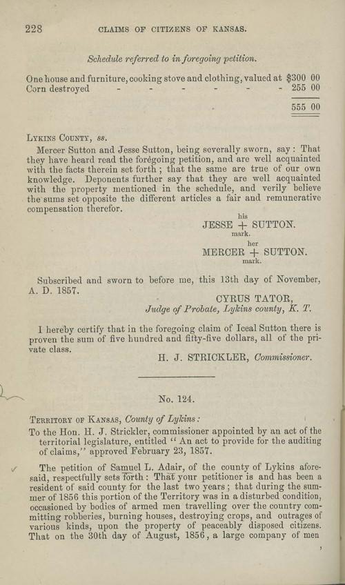 Samuel Adair territorial loss claim - Page