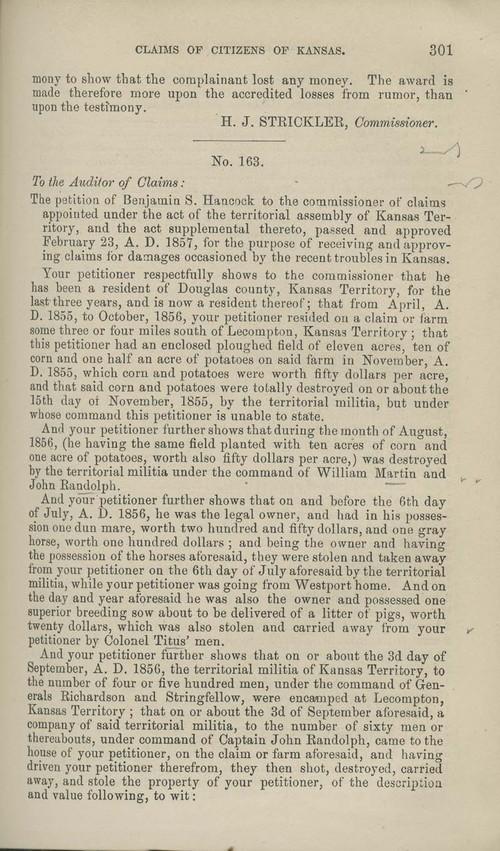 Benjamin S. Hancock territorial loss claim - Page