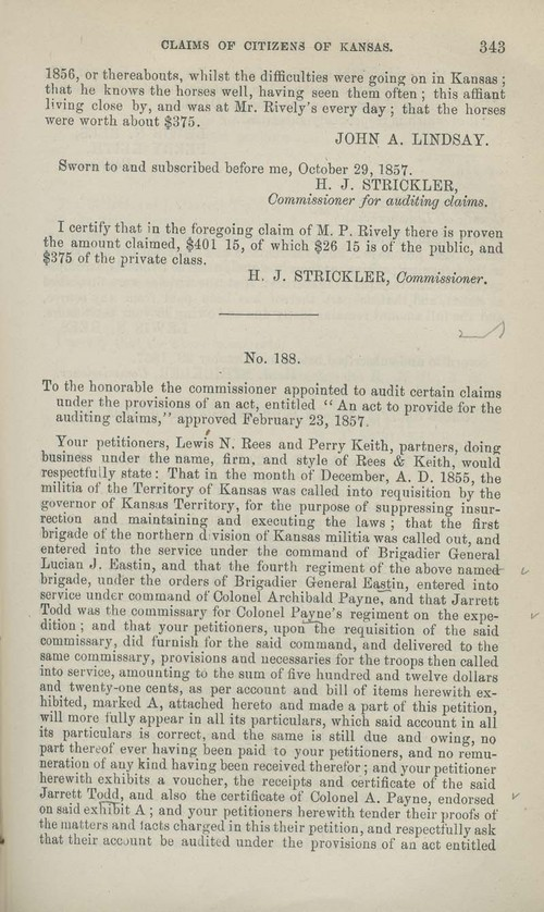 Lewis N. Rees and Perry Keith territorial loss claim - Page