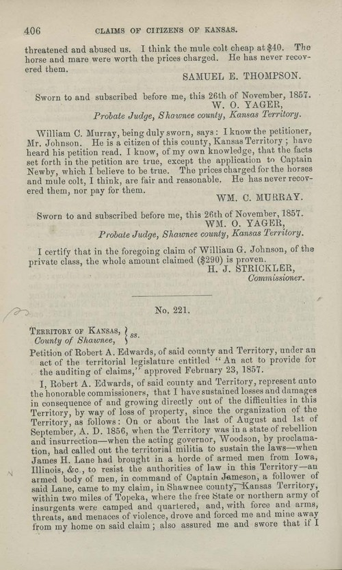 Robert A. Edwards territorial loss claim - Page