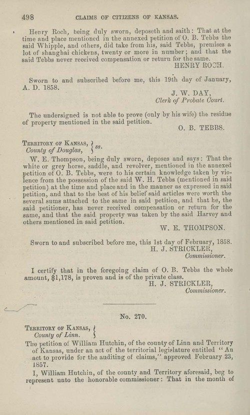 William Hutchin territorial loss claim - Page