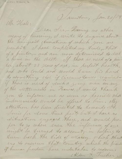 Alden G. Tucker to Edward Everett Hale - Page