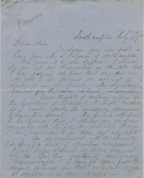 Samuel C. Pomeroy to Edward Everett Hale - Page