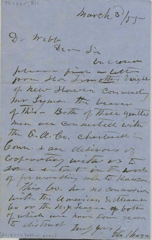 Eli Thayer to Dr. Thomas H. Webb - Page