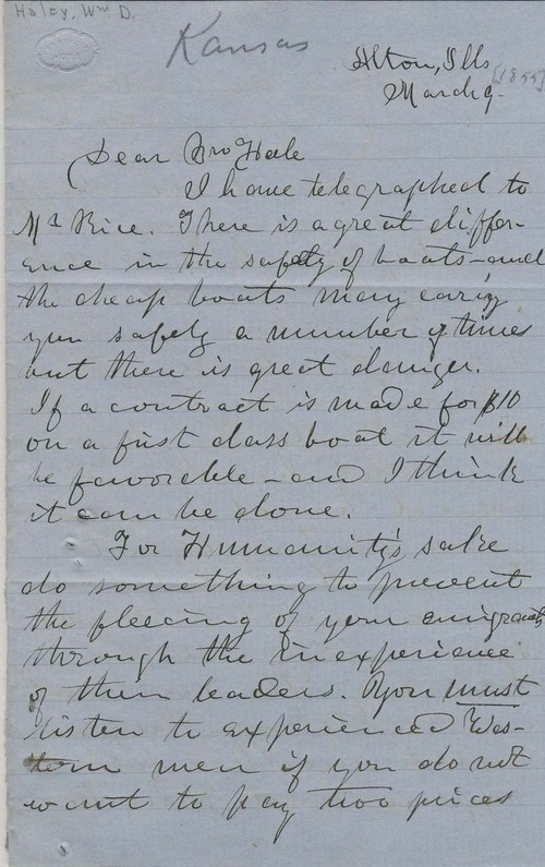 William D. Haley to Edward Everett Hale - Page