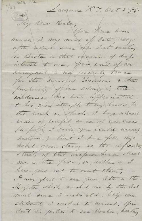 Ephriam Nute, Jr. to Reverend Edward Everett Hale - Page