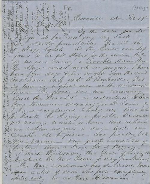 Samuel Clarke Pomeroy  to Doctor Thomas H. Webb - Page