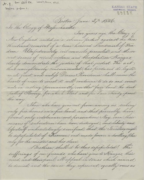 Circular letter to the clergy of Massachusetts - Page