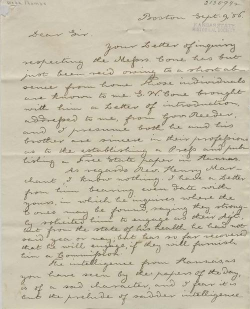 Thomas H. Webb to William Barnes - Page