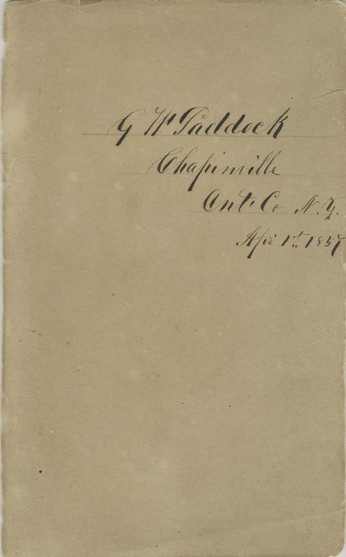 G. W. Paddock diary - Page