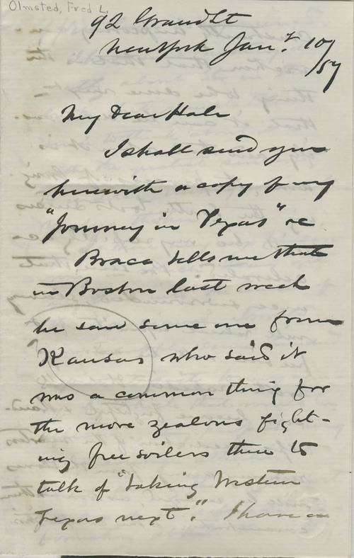 Frederick Law Olmsted to Edward Everett Hale - Page