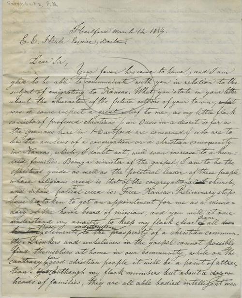 Francis M. Serenbetz to Edward Everett Hale - Page