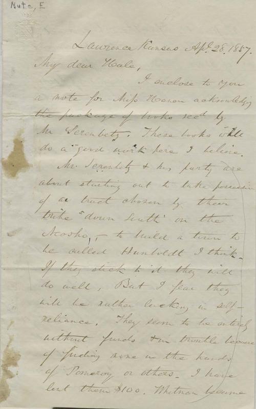 Ephraim Nute to Edward Everett Hale - Page
