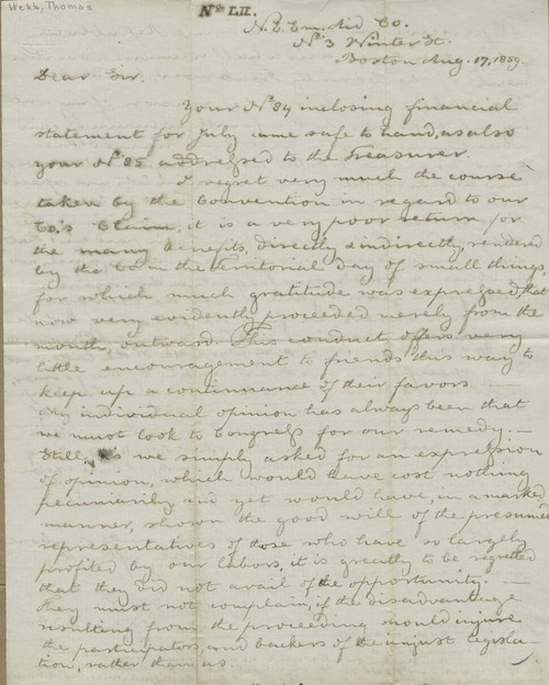 Thomas Hopkins Webb to Martin Franklin Conway - Page