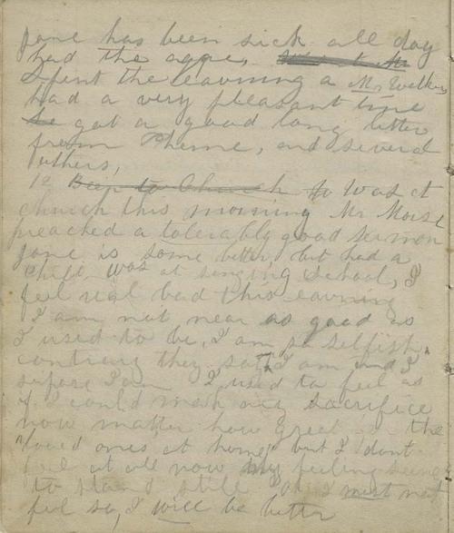 Anna Margaret (Watson) Randolph diary - Page