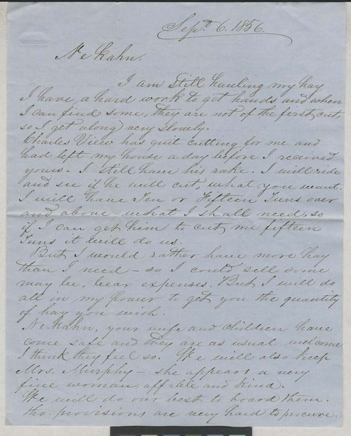 Ke Kahn [Joseph Napolean Bourassa] to Ne Kahn [Thomas Nesbit Stinson] - Page