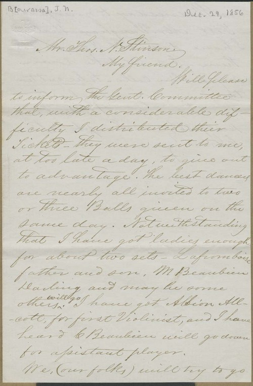 Ke Kahn [Joseph Napolean Bourassa] to Thomas Nesbit Stinson - Page