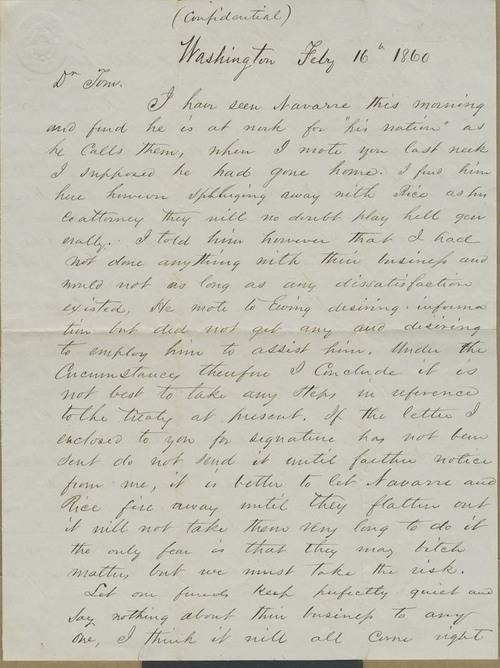 R. Brackenridge, Jr. to Thomas Nesbit Stinson - Page