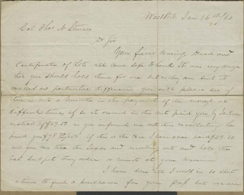 Albert G. Boone to Thomas Nesbit Stinson - Page