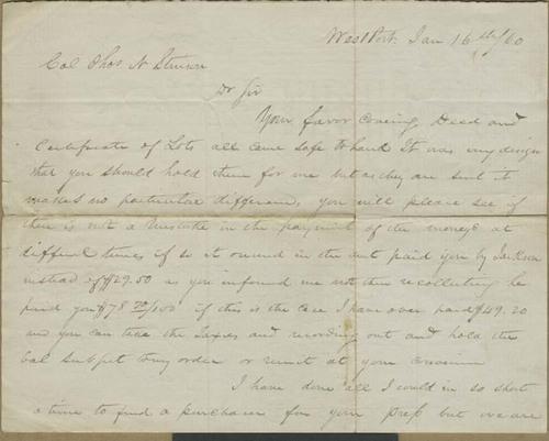 Albert G. Boone to Thomas Nesbit Stinson - Page