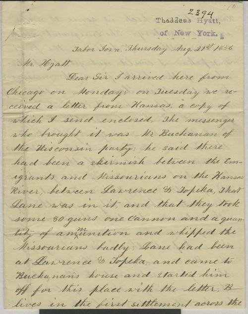 Albert D. Searl to Thaddeus Hyatt - Page